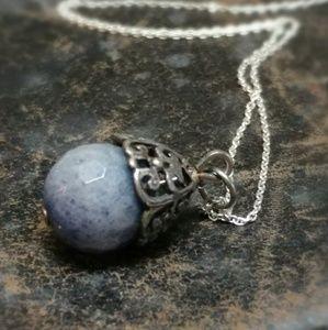 Jewelry - Sweet Multi Faceted Quartz Gemstone Drop Necklace